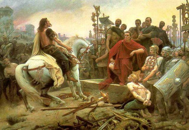Vercingétorix jette ces armes aux pieds de Jules César de Lionel Royer
