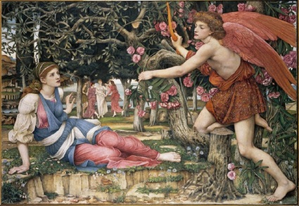 john_roddam_spencer_stanhope_-_love_and_the_maiden